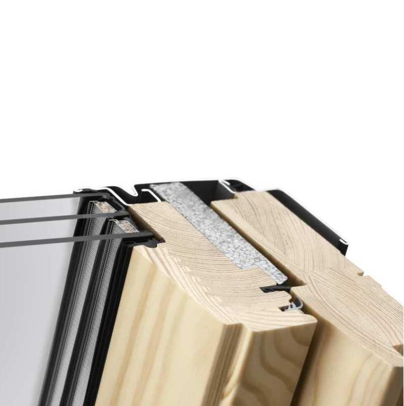 velux standard plus fa tet ablak gll 1061 55 x 78 cm x cm fels kilincses tet centrum. Black Bedroom Furniture Sets. Home Design Ideas